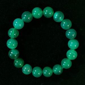 Natural Green Agate Gemstone Bracelet